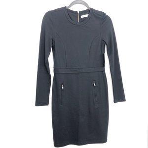 Athleta Black Long Sleeve Ponte Wanderer Dress NWT